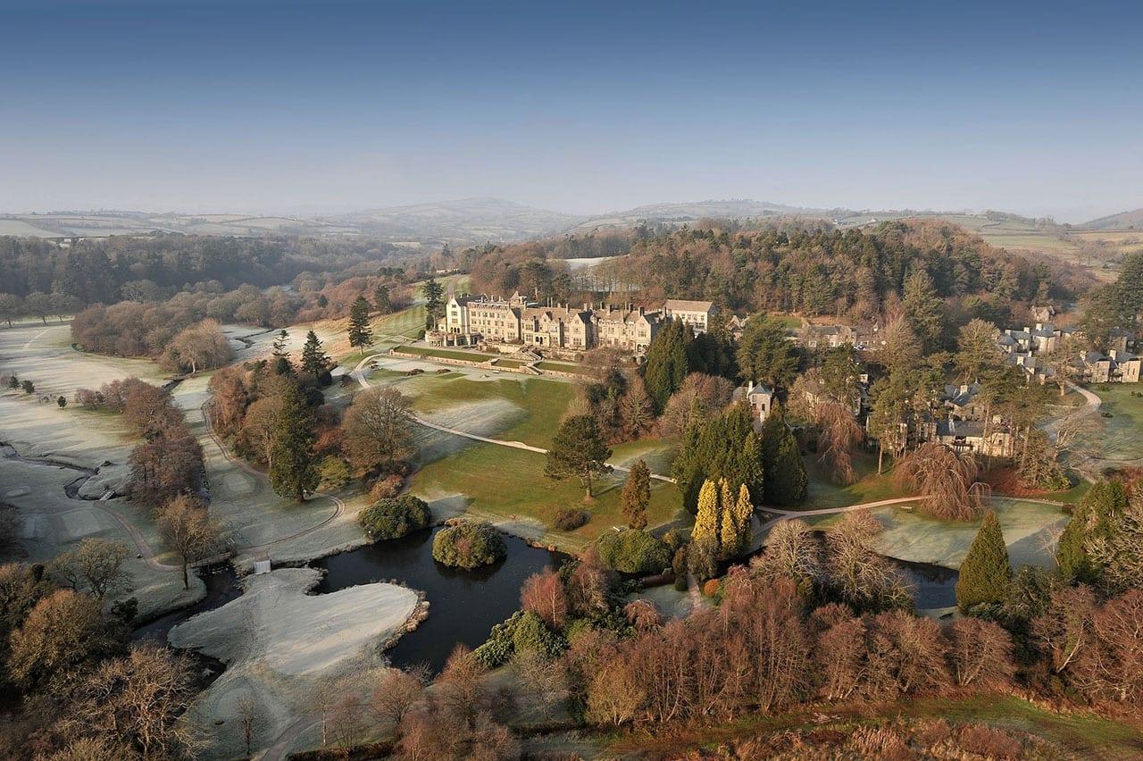 26068794 H1 Aerial Shot Resized - Bovey Castle, lăsat mărturie pentru escapade nobile