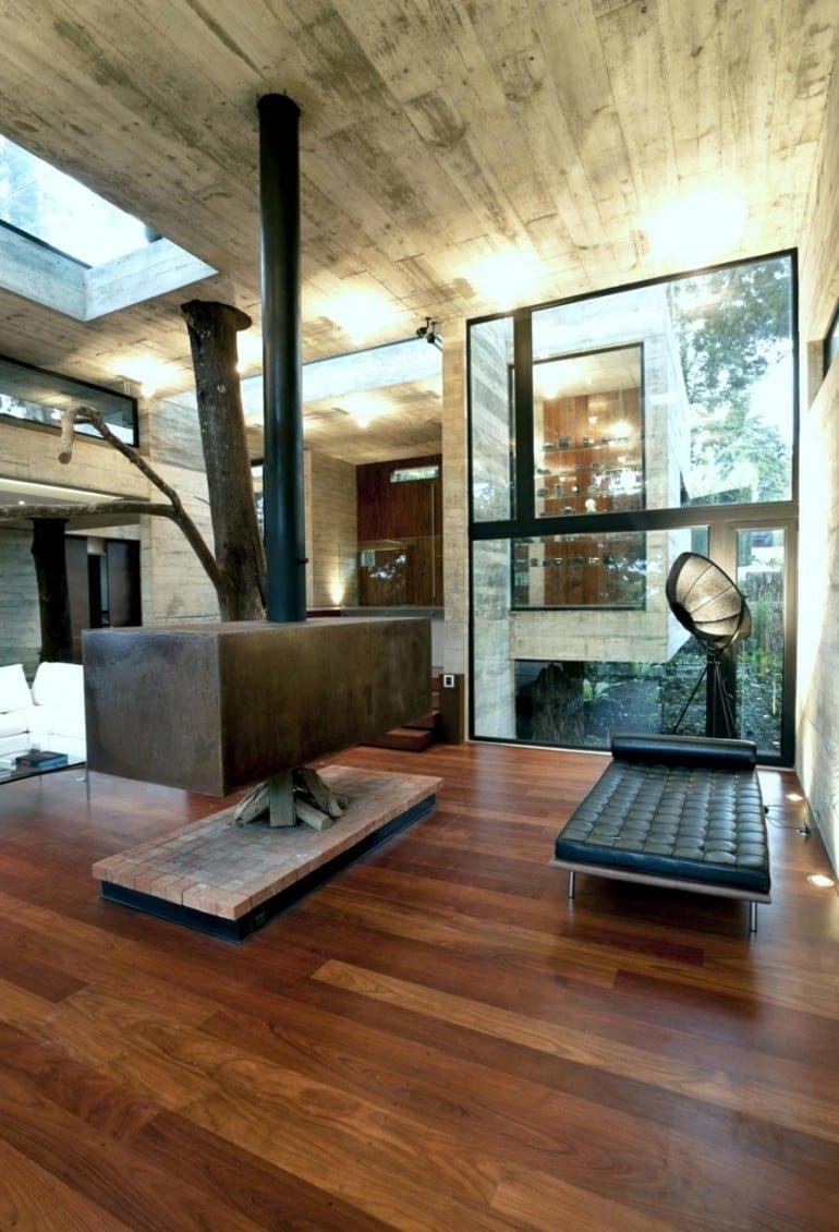 catching corallo house by paz arquitectura in guatemala city guatemala 770x1130 - Corallo House - Casa din copac… sau copacul din casă