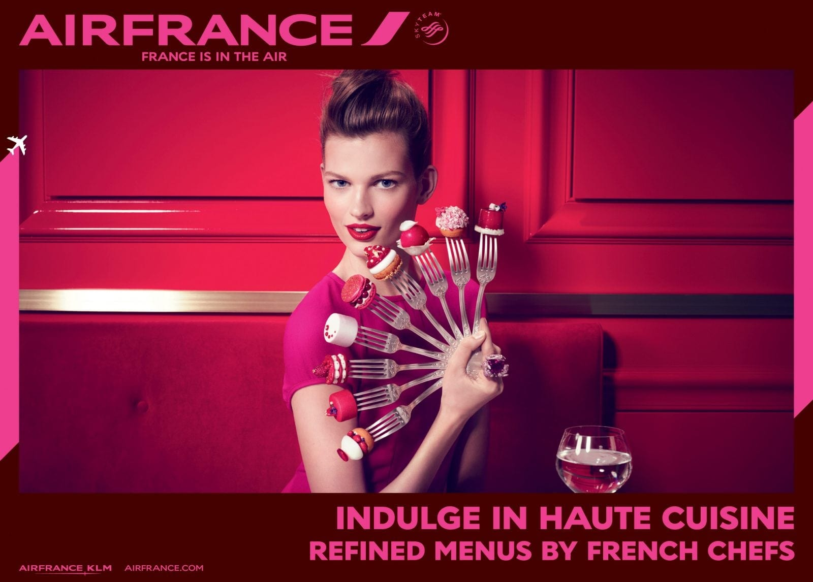 """France is in the air Gastronomy 01 - """"Air France, France is in the air"""""""