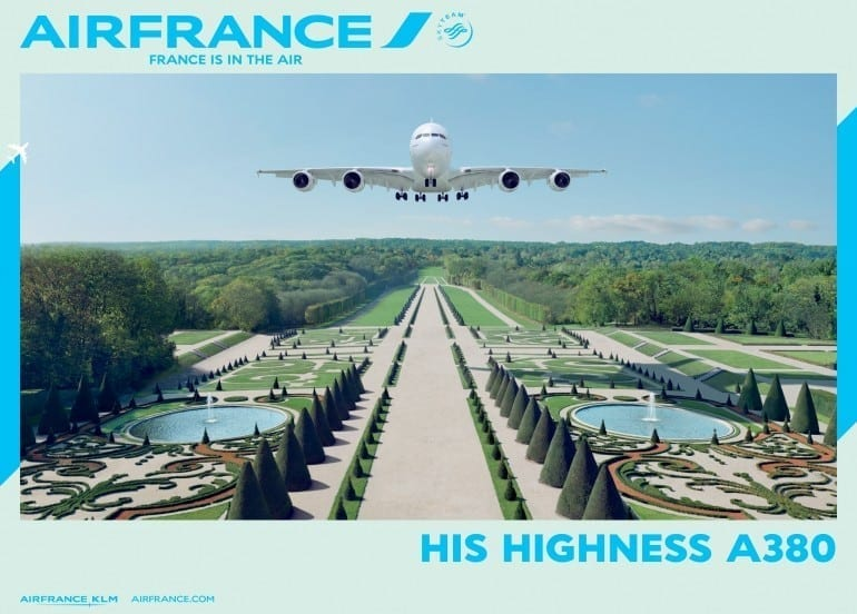 """France is in the air His highness A380 01 770x552 - """"Air France, France is in the air"""""""