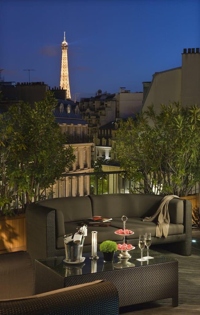 Hôtel Fouquets Barrière Duplex Eiffel Suite HD 3 - Fouquet's Barriere Paris - Excelență în cultura pariziană