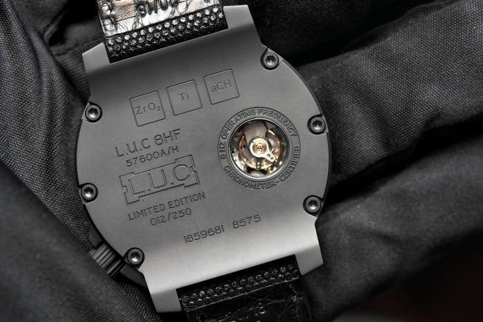 LUC CHOPARD 8HF Black Ceramic CASEBACK 700x466 - Chopard LUC 8HF Power Control