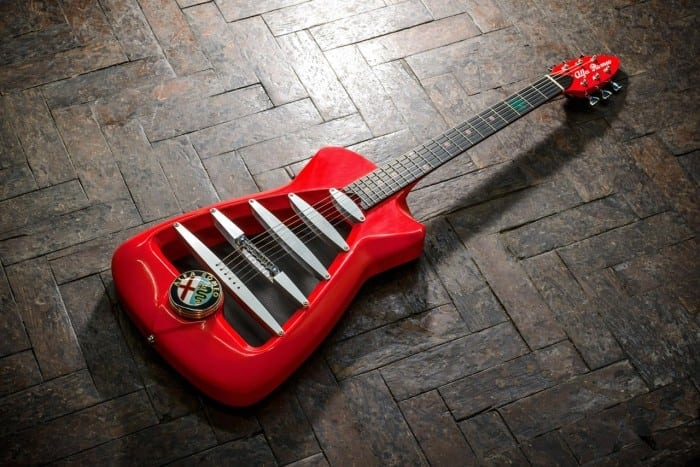 The Alfa Romeo Guitar by Harrison Custom Guitars 2 700x467 - Ediție limitată: chitară de inspirație Alfa Romeo