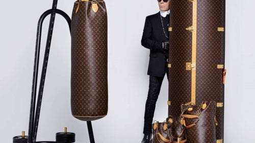 LV Luxury Punching Bag, cu design semnat Karl Lagerfeld