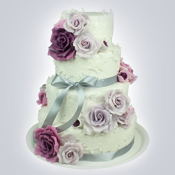 FB037 tort dantela trandafiri mov - Cofetăria Armand, diversitatea gustului dulce