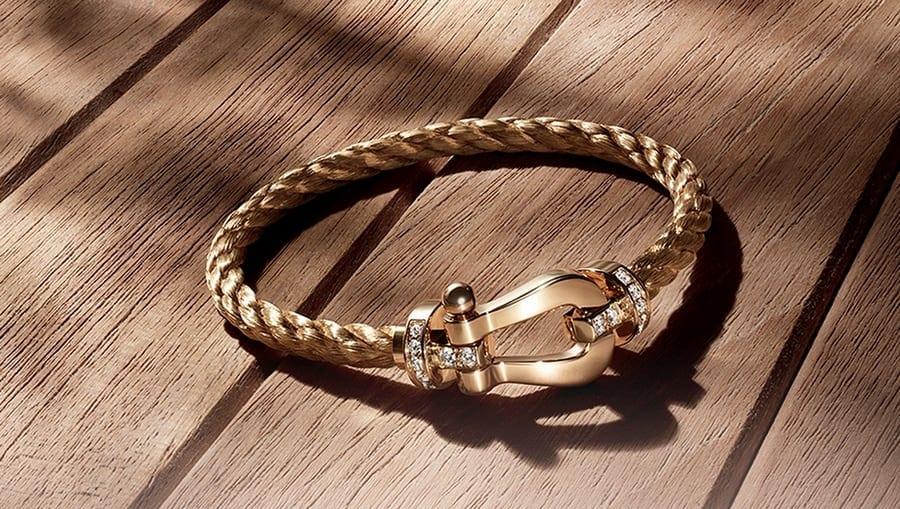 Fred Force 10 bracelet - Bijuterii excepționale: brățara Fred, colecția Force 10, din aur galben și diamante albe