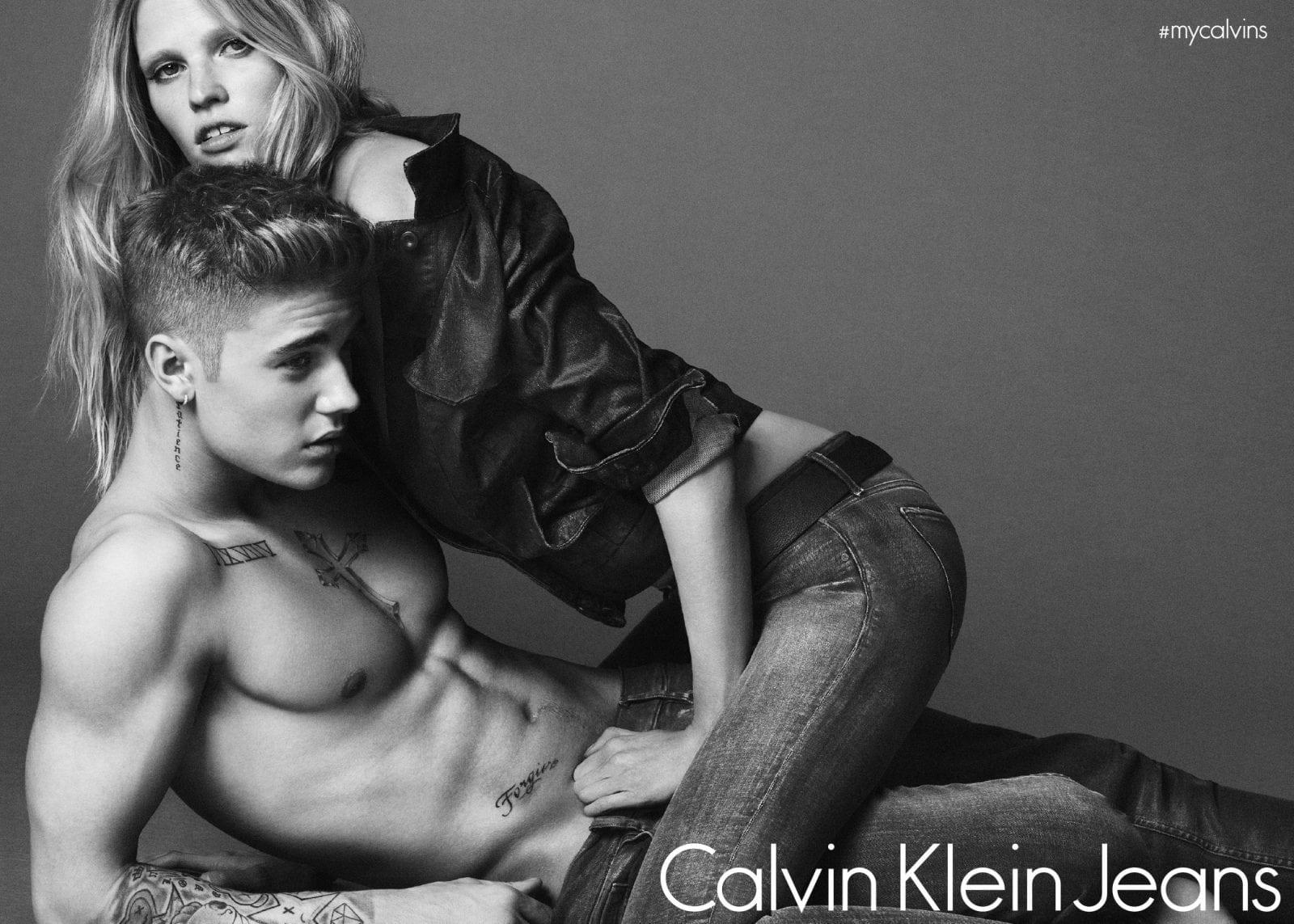Justin Bieber Lara Stone - Justin Bieber este noul model Calvin Klein Jeans