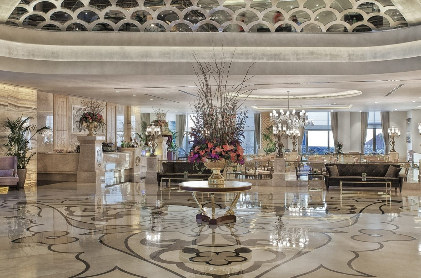 Lobby - Park Bosphorus Hotel Istanbul - reînvie spiritul și tradiția Imperiului Otoman