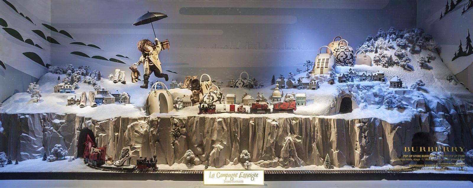 traversee campagne - Crăciunul, o călătorie magică cu Burberry şi Printemps