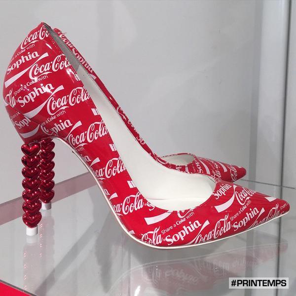 Coca Cola heels - Share a Coke with Sophia!