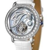 Epure Tourbillon Ama white gold diamonds baguettes mother of pearl dial white alligator strap Tourbillon e1437571680816 170x170 - Boucheron - Epure Tourbillon Ama