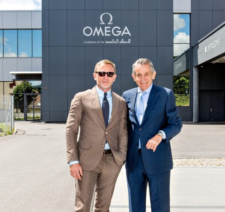 Daniel_Craig_and_Stephen_Urquhart_are_seen_at_the_OMEGA_Factory_Visit_in_Switzerland