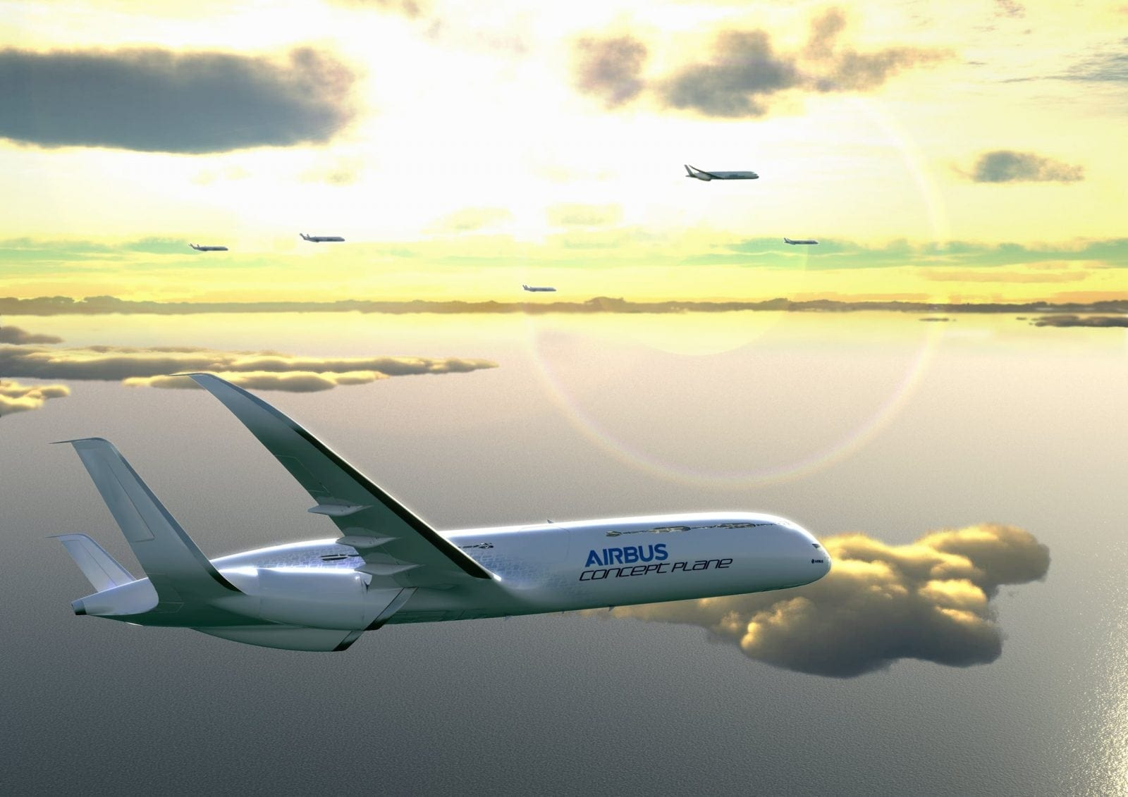 3. Low noise  free glide approaches and landings - Un pas în viitor - Airbus Concept Plane
