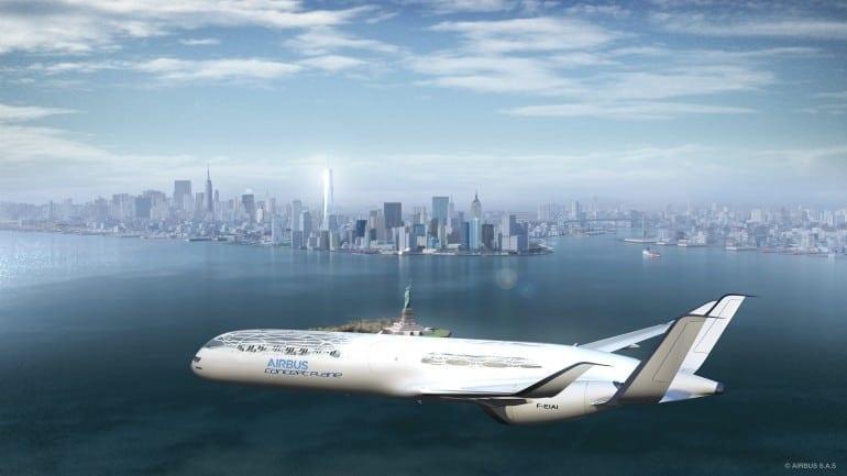 Concept Plane New York 770x433 - Un pas în viitor - Airbus Concept Plane