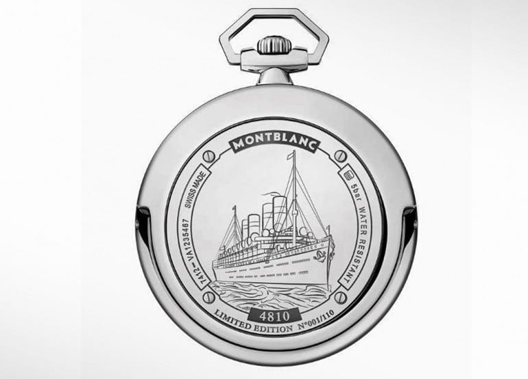 MONTBLANC – Heritage 4810 Orbis Terrarum Pocket Watch Transatlantic Limited Edition back