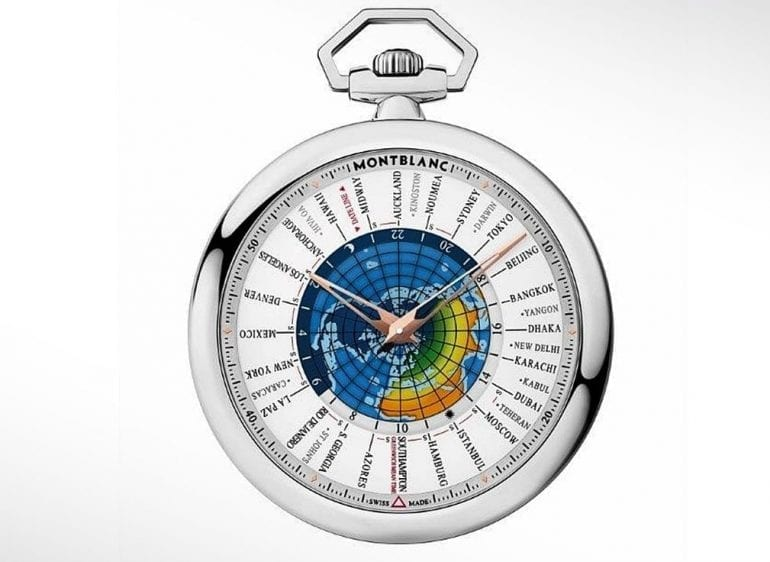 MONTBLANC – Heritage 4810 Orbis Terrarum Pocket Watch Transatlantic Limited Edition front