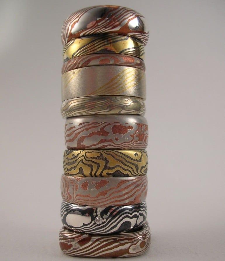 mokume gane 770x890 - În contrast de sclipiri: tezaurul nipon al aliajelor