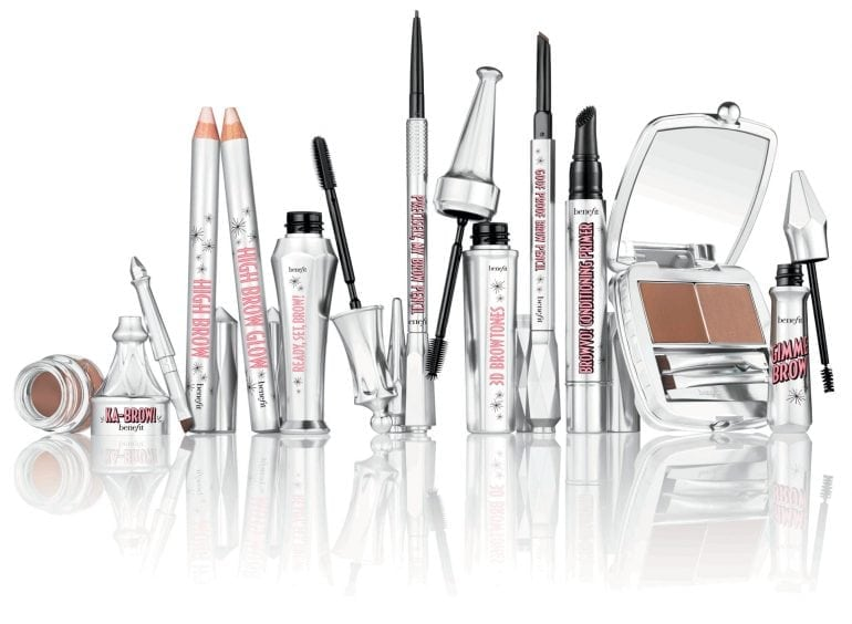 Benefit Brow collection groupshot caps opened
