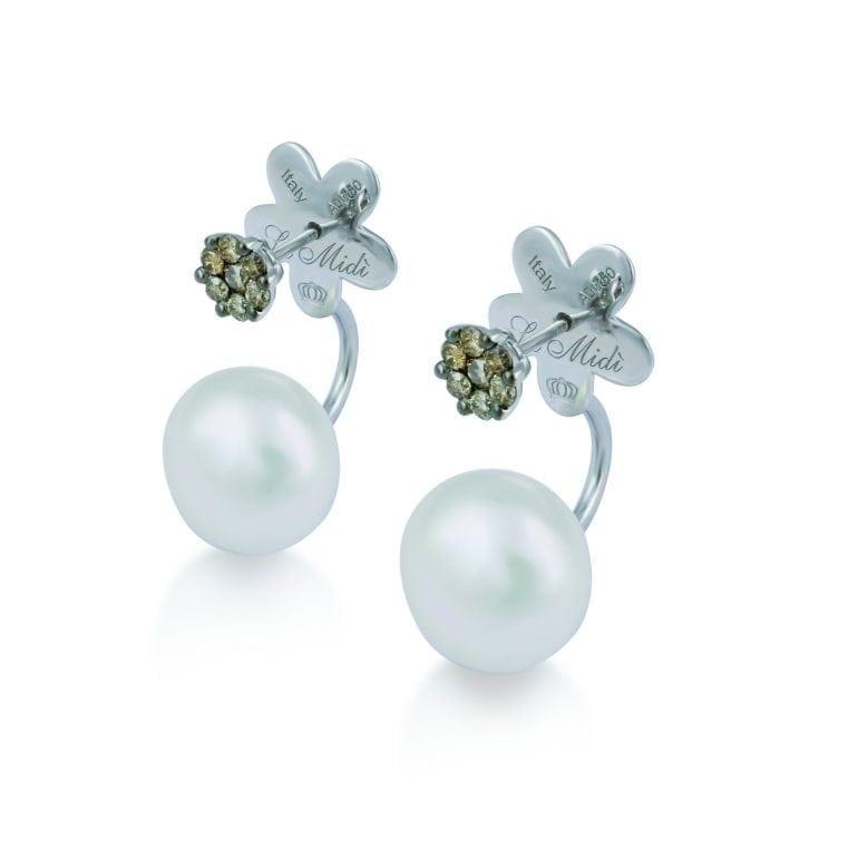 Orecchini Le Midì perla e diamanti