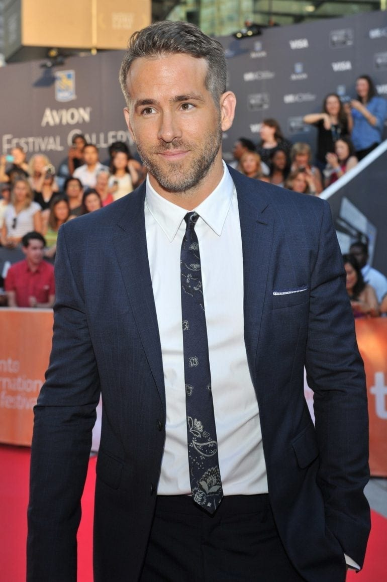 "TORONTO, ON - SEPTEMBER 16:  Actor Ryan Reynolds attends the ""Mississippi Grind"" premiere during the 2015 Toronto International Film Festival at Roy Thomson Hall on September 16, 2015 in Toronto, Canada.  (Photo by Sonia Recchia/Getty Images)"