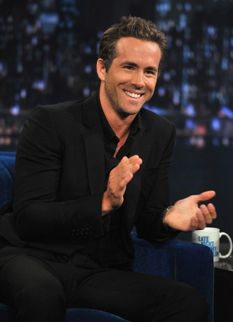 "NEW YORK, NY - AUGUST 04:  Ryan Reynolds visits ""Late Night With Jimmy Fallon"" at Rockefeller Center on August 4, 2011 in New York City.  (Photo by Theo Wargo/Getty Images)"