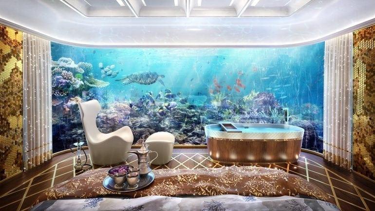 interior design option for master underwater bedroom middle eastern 770x433 - The Heart of Europe - De la Iaht, la casă plutitoare