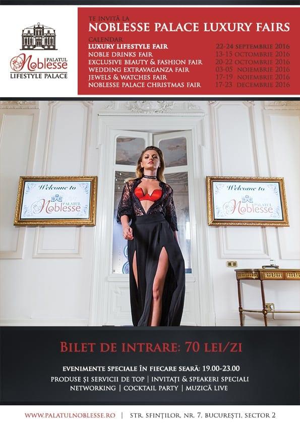 poza principala - Trei zile de rafinament și eleganță la Palatul Noblesse: Luxury Lifestyle Fair