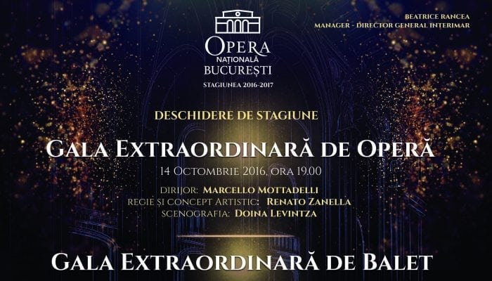 Opera Națională București deschide stagiunea 2016–2017