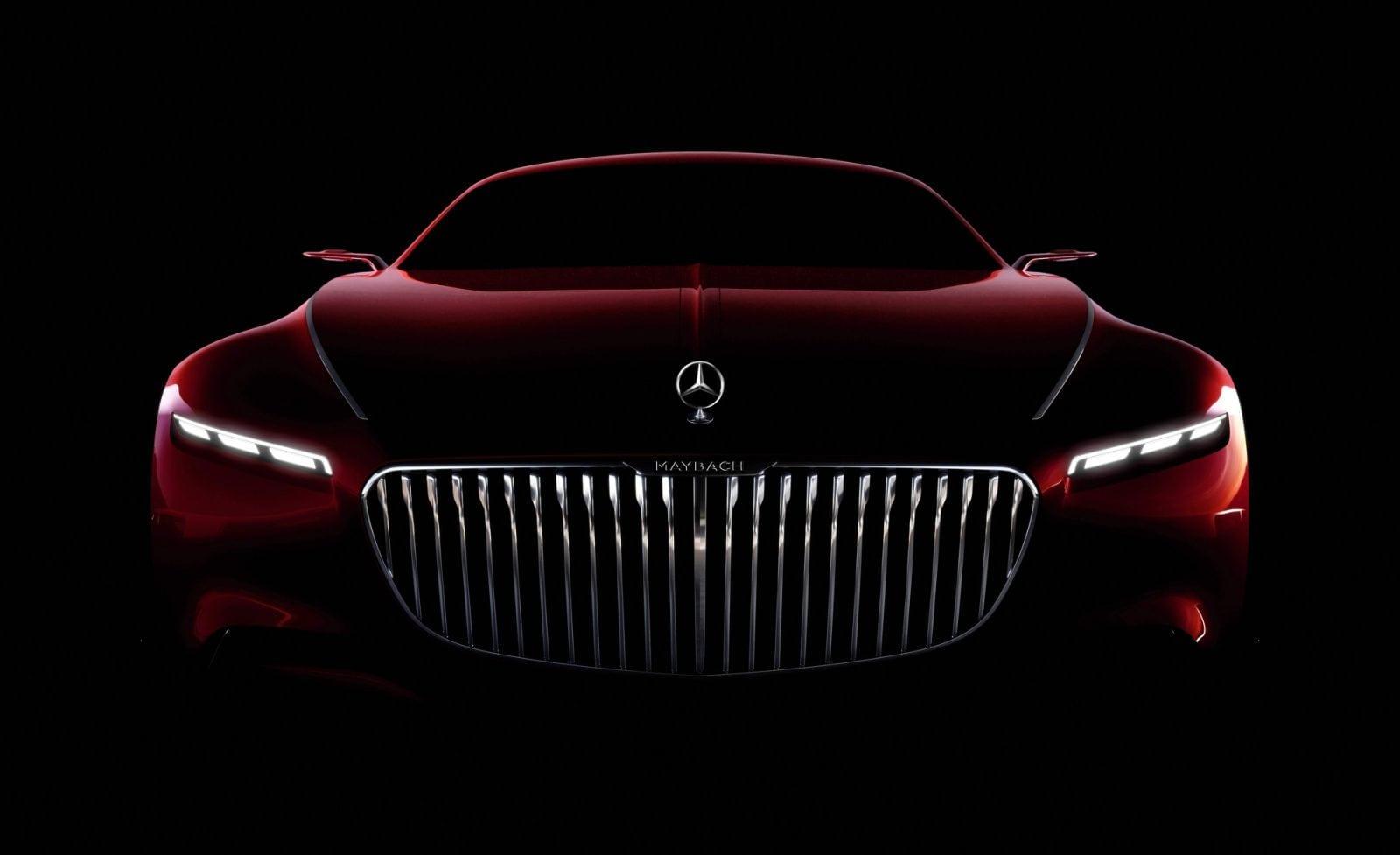 Mercedes maybach coupe teaser front - Șase metri de lux și opulență - Mercedes-Maybach