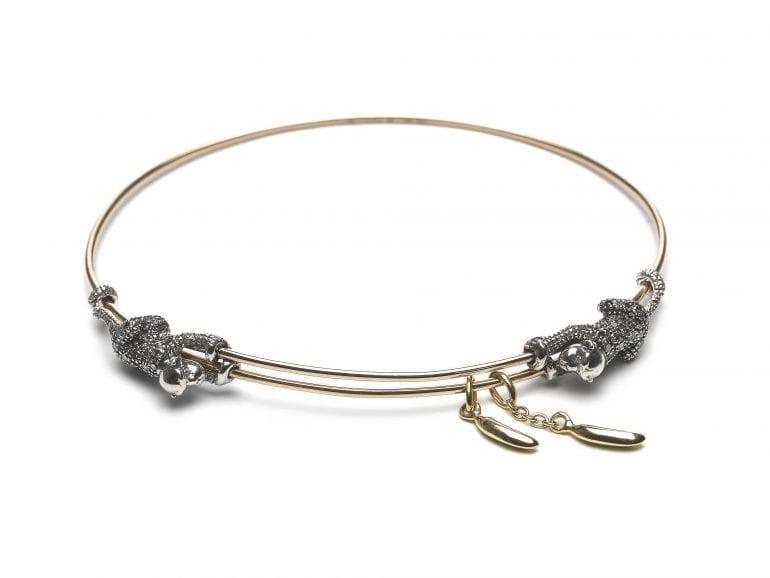 Animal Collection Monkey and Banana bracelet 18ct rosé gold sterling silver and brown diamonds 770x578 - Introspecție în universul creativ al lui Bibi van der Velden