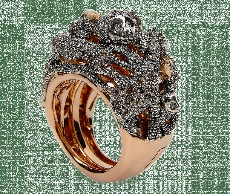 Animal collection animal panther ring 18ct rosé gold brown diamonds 1 e1484568547573 770x649 - Introspecție în universul creativ al lui Bibi van der Velden