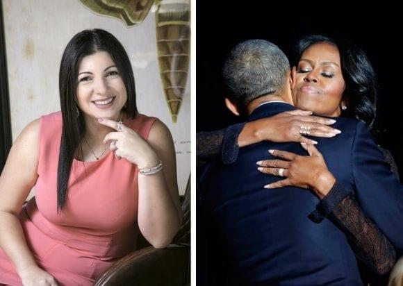 Michelle Obama poartă bijuteriile create de designerul român Narcisa Pheres