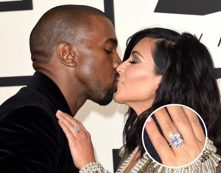 kim kardashians engagement ring from kanye west has gotten even more attention as of late after the 20 carat diamond ring was stolen in a jewelry heist in paris 770x604 - Cele mai scumpe inele de logodnă din toate timpurile