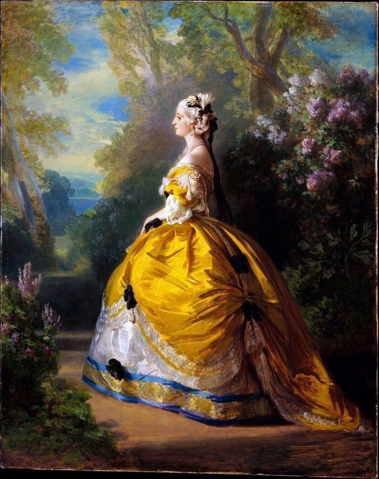 L'impératrice Eugénie à la Marie-Antoinette,  1854, Franz Xaver Winterhalter