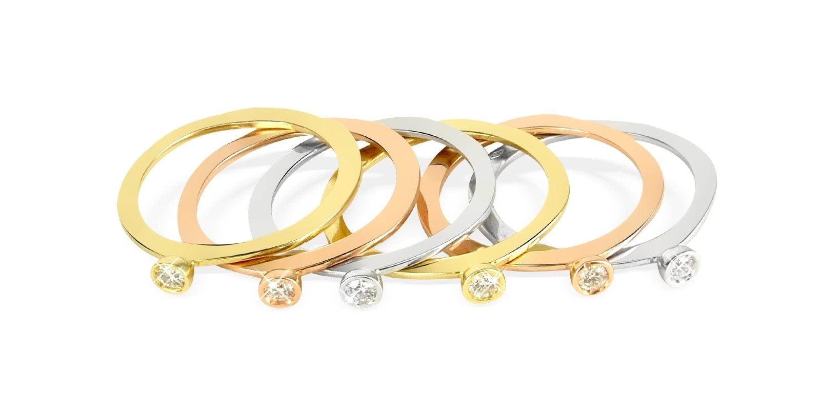 torrini gold bezelset diamond threetone 18k gold stackable ring set of six product 3 9954336 012497651 e1489146093414 - Torrini - Cei mai vechi făuritori de comori ai Florenței