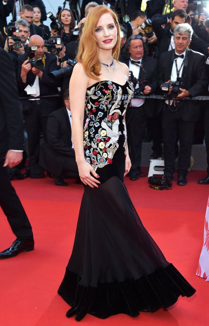 jessica chastain 2 - Cannes 2017 - cele mai spectaculoase ținute de pe covorul roșu