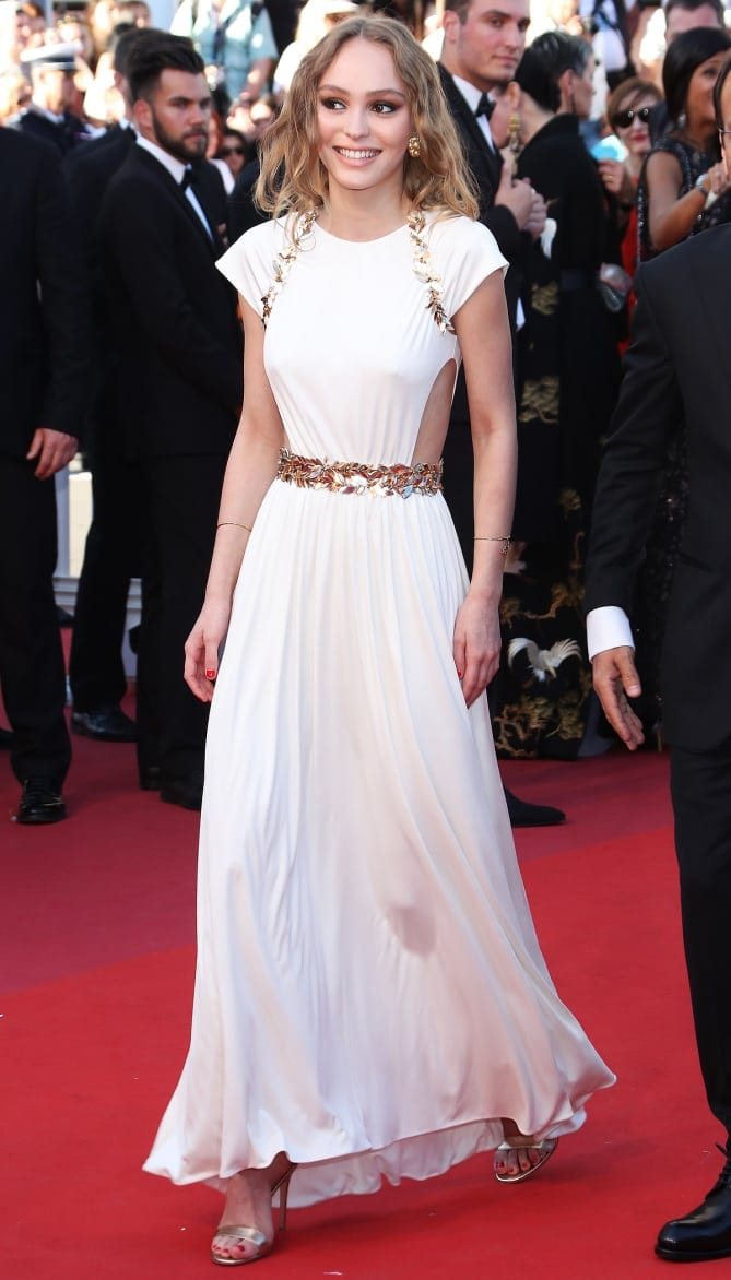 lily rose depp - Cannes 2017 - cele mai spectaculoase ținute de pe covorul roșu