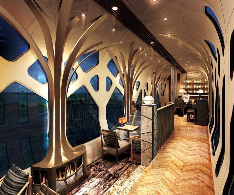 Shiki Shima Lounge Car 770x642 - Shiki-Shima Cel mai luxos tren din Japonia