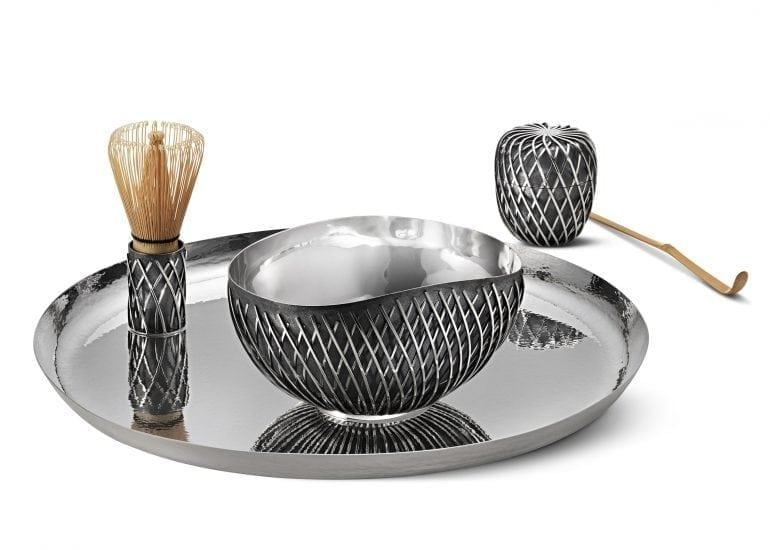 kengo kuma tea set 770x550 - Serviciu de ceai exclusivist, creat de Kengo Kuma pentru Georg Jensen