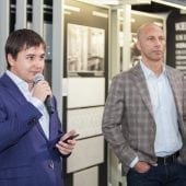 Ivan Sharipov Export Director Kerama Marazzi Dragos Bonea Director General Delta Studio 170x170 - Delta Studio deschide primul showroom monobrand Kerama Marazzi din România