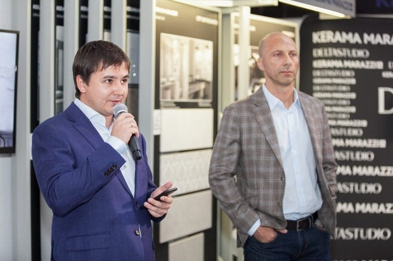 Ivan Sharipov Export Director Kerama Marazzi Dragos Bonea Director General Delta Studio 770x513 - Delta Studio deschide primul showroom monobrand Kerama Marazzi din România
