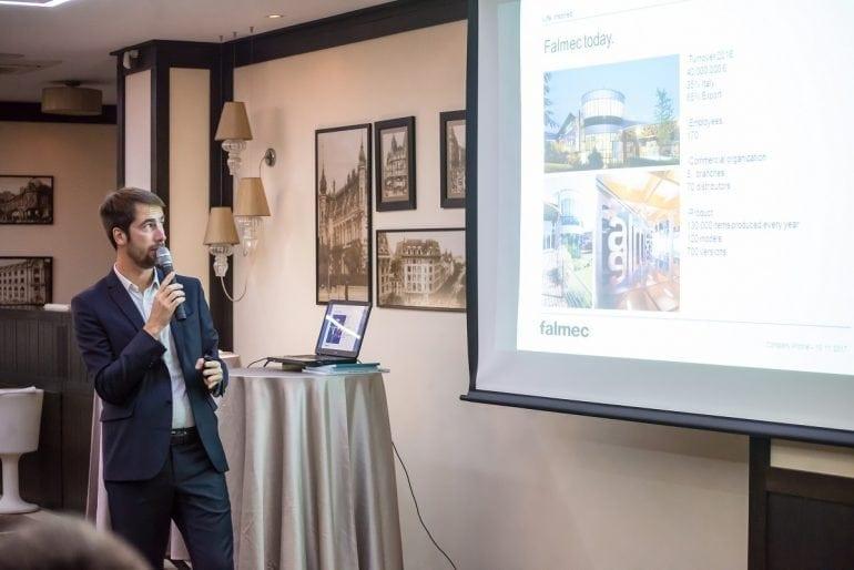 Eveniment Falmec Romania Noiembrie 2017 5 770x514 - Compania italiană Falmec lansează în România noua colecție de purificatoare Bellaria
