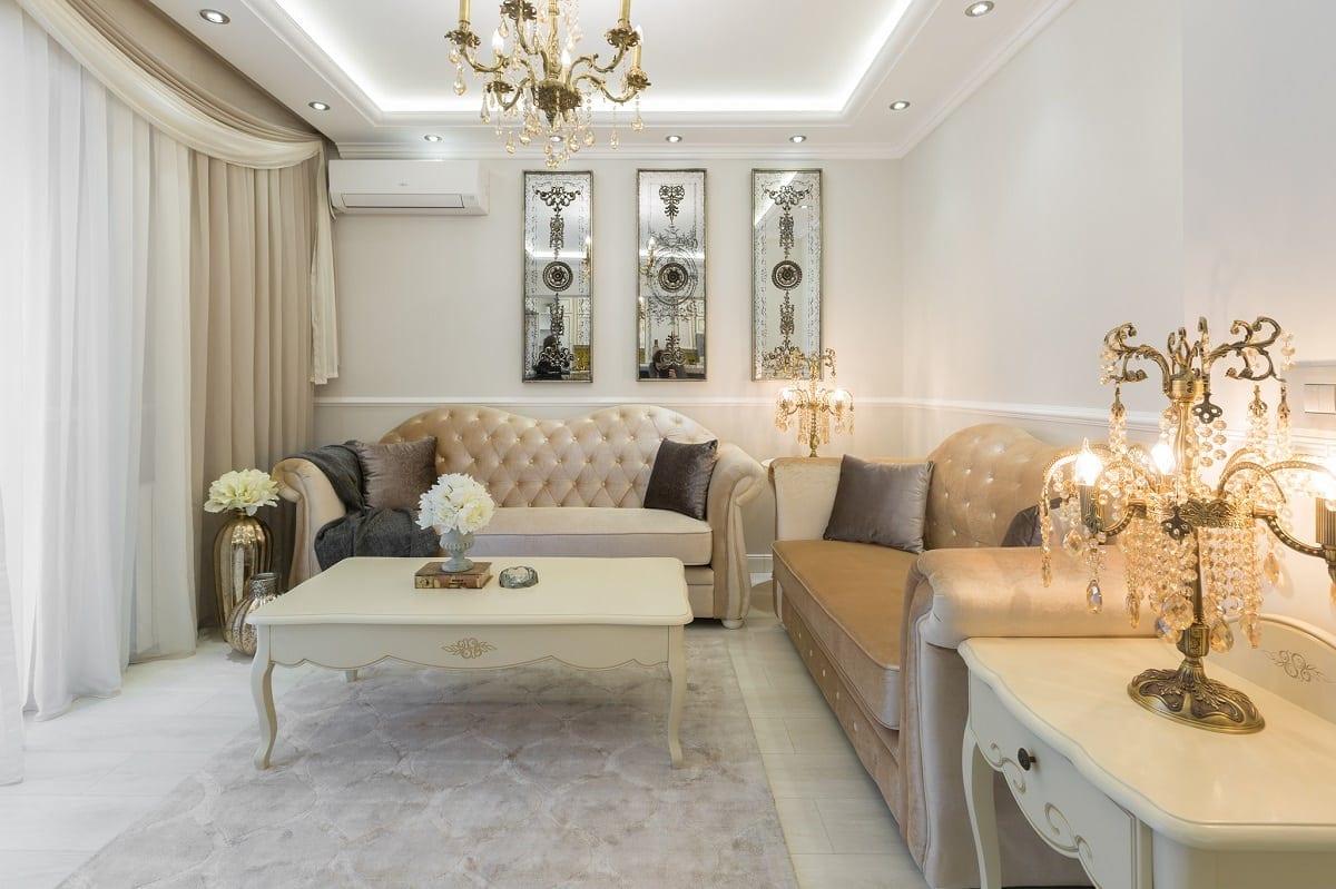 Amenajare living UGinteriors 3 - Victorian Chic – Amenajare de apartament clasică, în centrul Bucureștiului