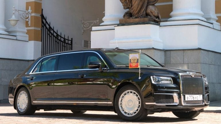 cortege 1 770x433 - Mașini cu simbol de statut - Limuzina Aurus, mașina președintelui Vladimir Putin