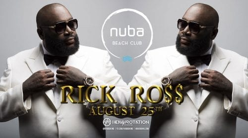 Rick Ross vine cu Lamborghini-ul direct pe scena NUBA Beach Club