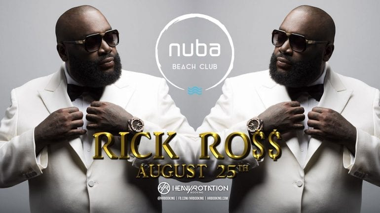 rick ross nuba beach club 770x433 - Rick Ross vine cu Lamborghini-ul direct pe scena NUBA Beach Club