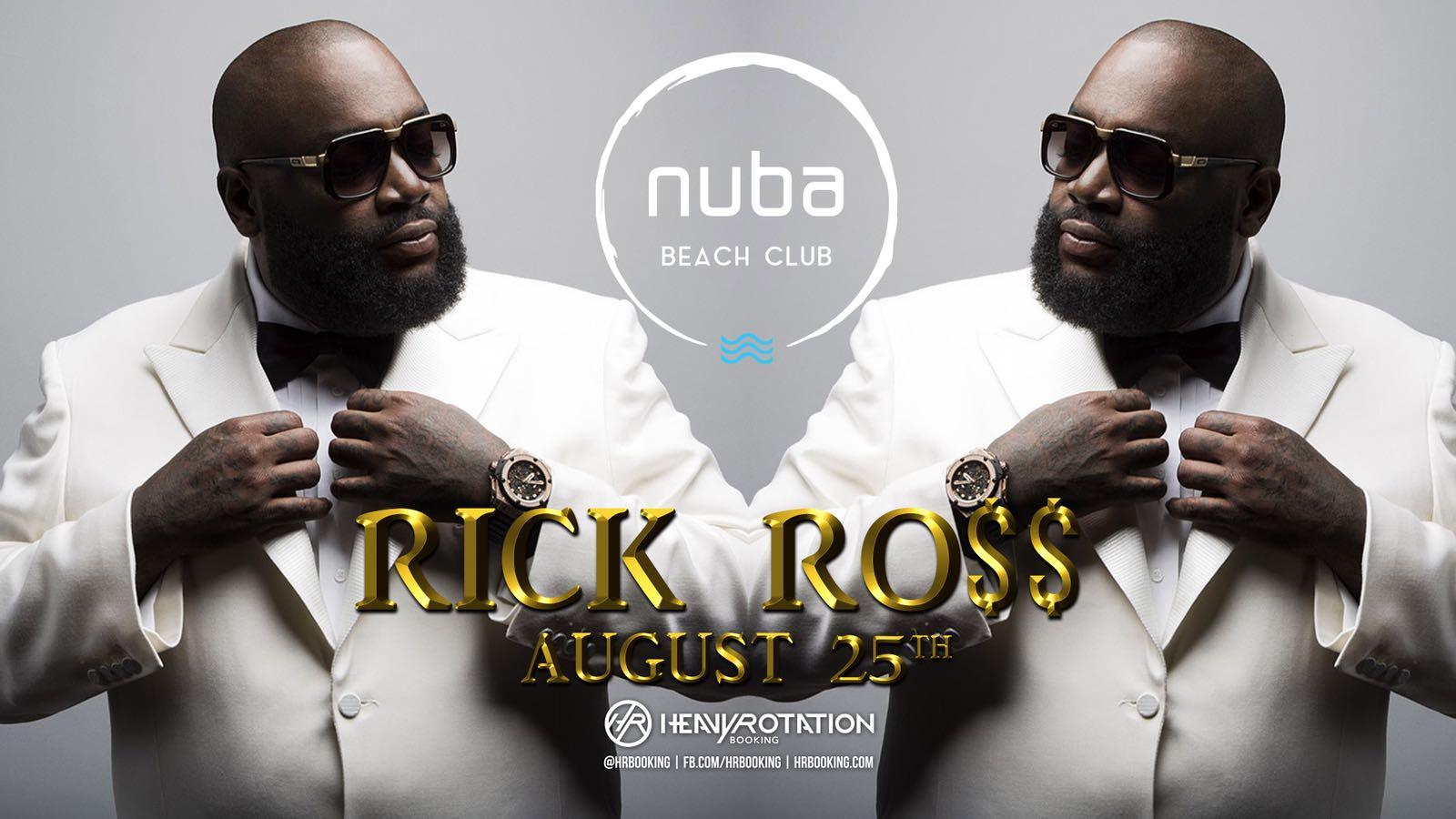 rick ross nuba beach club - Rick Ross vine cu Lamborghini-ul direct pe scena NUBA Beach Club