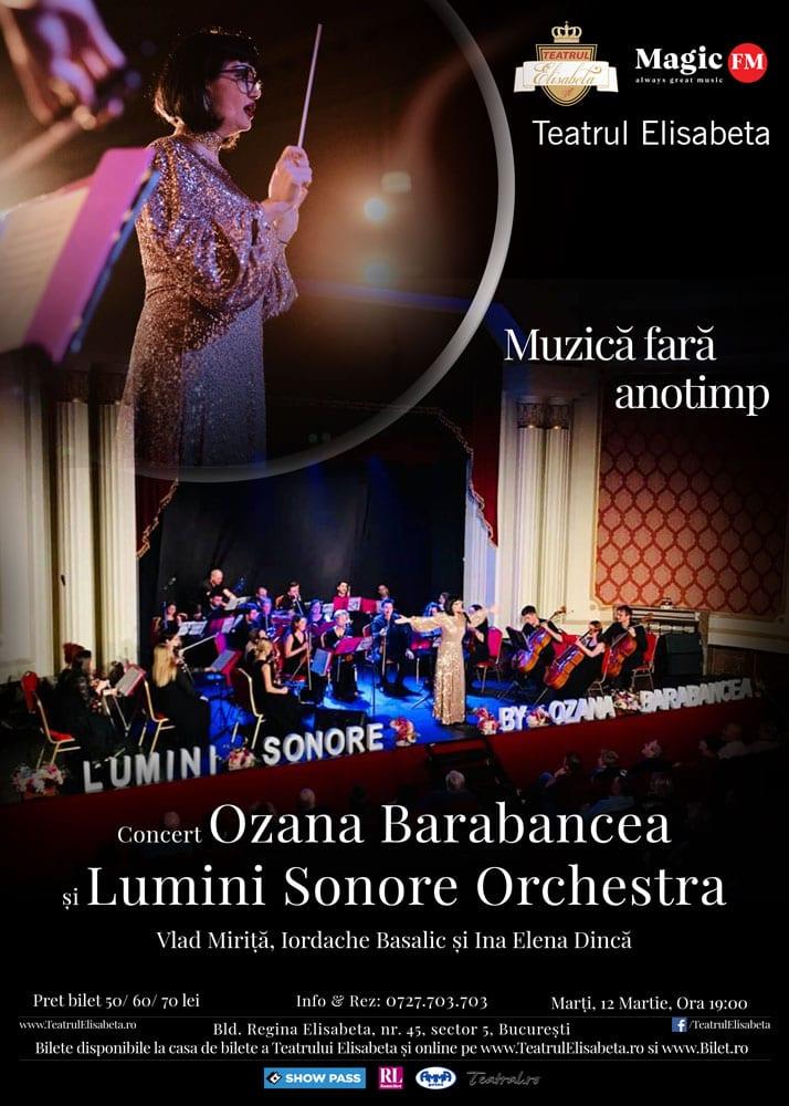 Web Afis Muzica Fara Anotimp - Muzică fără anotimp - Spectacol muzical Ozana Barabancea și Lumini Sonore Orchestra