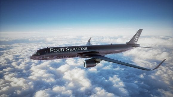 Experiența unui avion privat de lux, oferită de Four Seasons