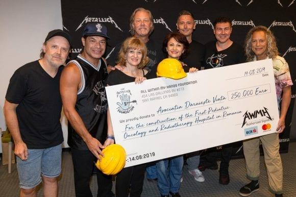 Contribuție de 250.000 de euro din partea trupei Metallica pentru #NoiFacemUnSpital